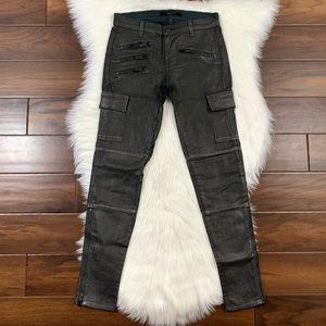J Brand Moonwalk Shimmer Brix Cargo Skinny Jeans
